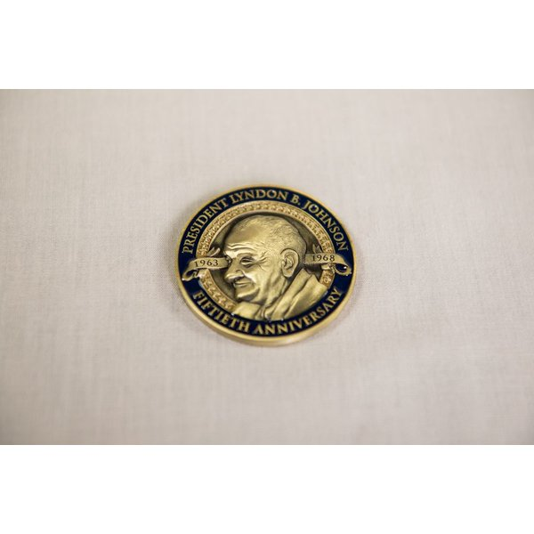 CUSTOM LBJ 50TH ANNIVERSARY COIN