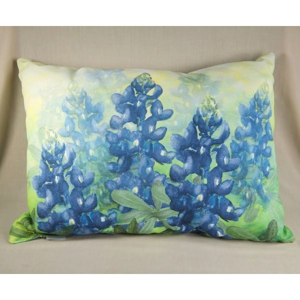 BLUEBONNET PILLOW RECT IN/OUT