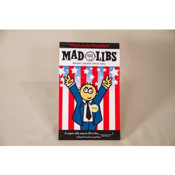 Just for Kids Mad Libs is tackling politics and changing the course of history. From the Gettysburg Address to the preamble of the Constitution, history has never been so hilarious!