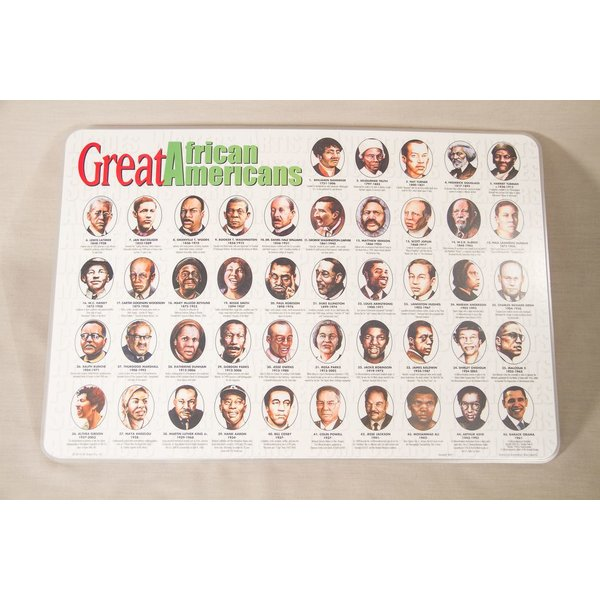 Civil Rights Protective coated and durable double-sided placemat of influential African Americans in history makes mealtime educational. Manufactured in the USA.