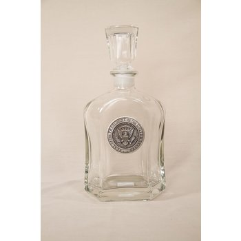 Patriotic PEWTER DETAIL PRESIDENTIAL SEAL DECANTER