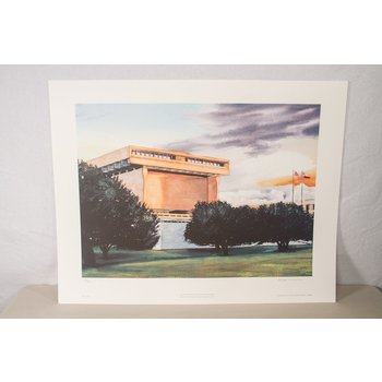 All the way with LBJ WIMAN WATERCOLOR PRINT, SIGNED & NUMBERED