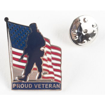 Patriotic PROUD VETERAN LAPEL TAC PIN
