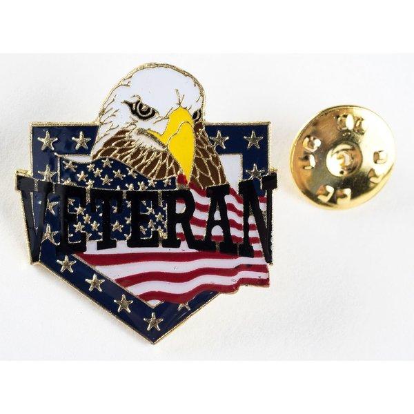 Patriotic VETERAN EAGLE LAPEL TAC PIN