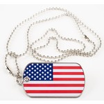 Patriotic US FLAG DOG TAG