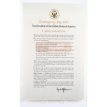 All the way with LBJ VINTAGE LBJ THANKSGIVING PROCLAMATION 1968