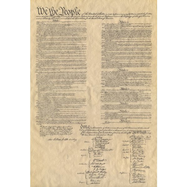 "Patriotic THE FOUR DOCUMENTS OF FREEDOM - SET 14""x16"""