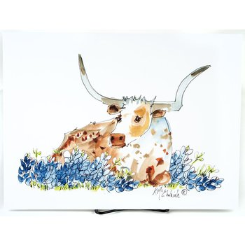 BESSIE IN THE BLUEBONNETS PRINT