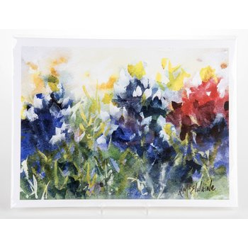 Texas Traditions RED, WHITE & BLUEBONNETS PRINT