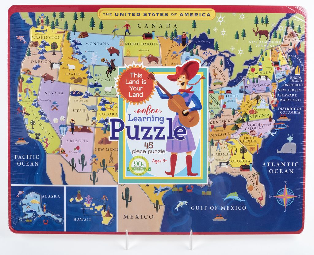 just for kids usa map learning puzzle ages 5