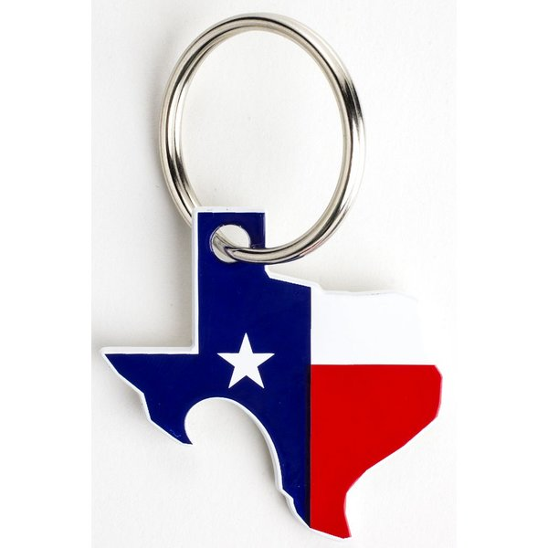 Texas Traditions TEXAS FLAG POP A TOP KEY RING