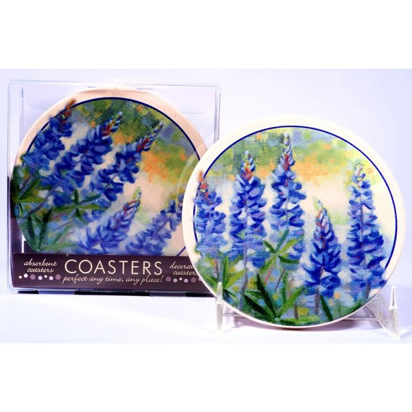 Texas Traditions BLUEBONNET COASTERS Set of 4