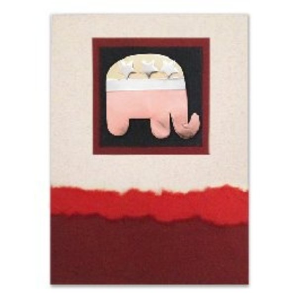 FAIR TRADE ELEPHANT PIN ON MAILABLE CARD