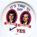 DUKAKIS BENTSEN TIME TO SAY YES