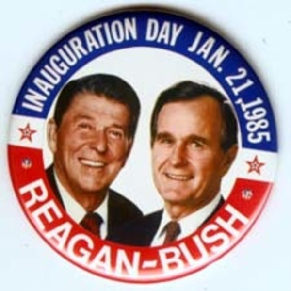 LARGE *REAGAN BUSH* INAUGURATION DAY