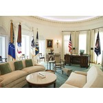 LBJ LIBRARY OVAL OFFICE REPLICA POSTCARD