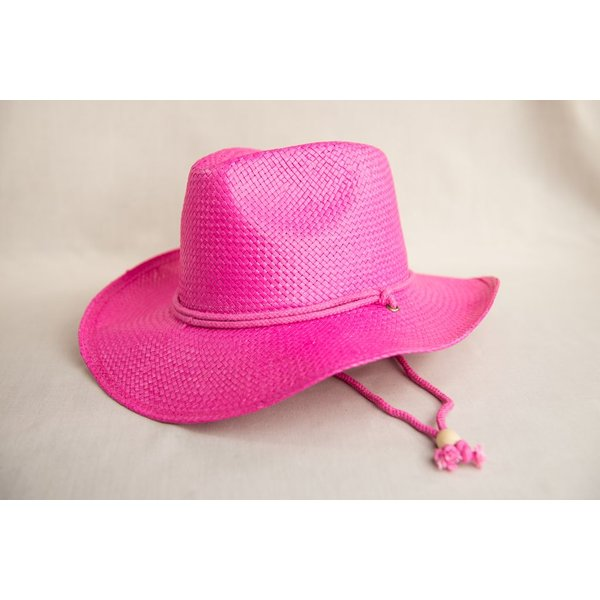 KID COWBOY HAT BRIGHT PINK