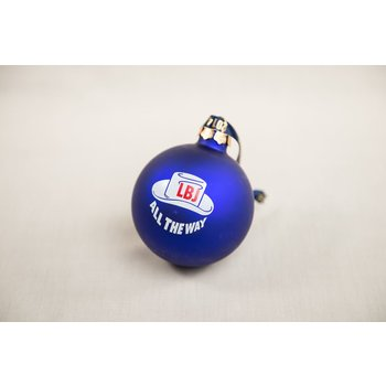 All the way with LBJ NAVY LBJ ALL THE WAY ORNAMENT W/HAT