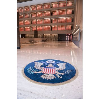 Patriotic GREAT SEAL WOOL ACCENT RUG