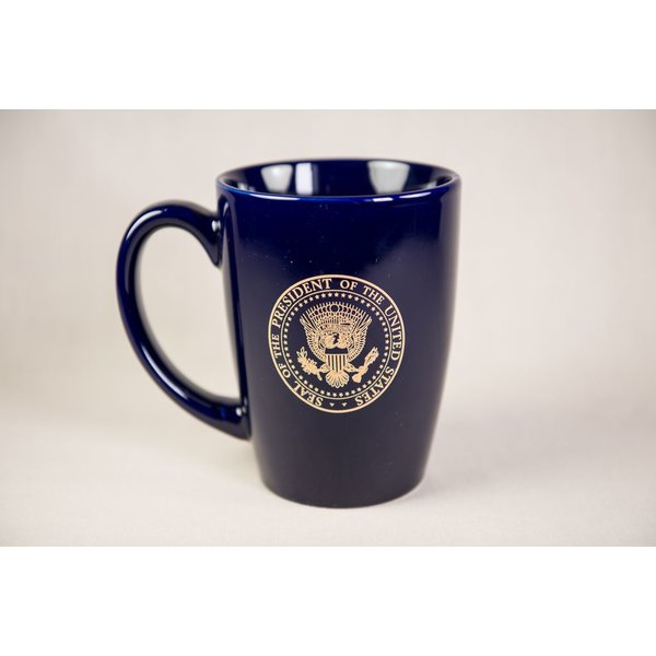All the way with LBJ NAVY LBJ LOGO MUG