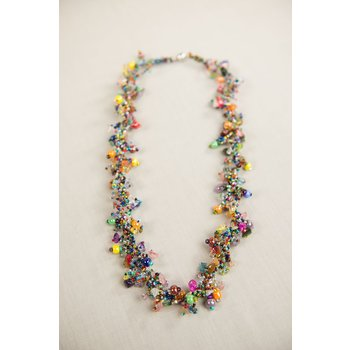 """COLORFUL GUATEMALAN  NECKLACE 30"""""""