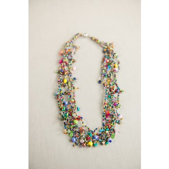 """COLORFUL GUATEMALAN  NECKLACE 24"""""""