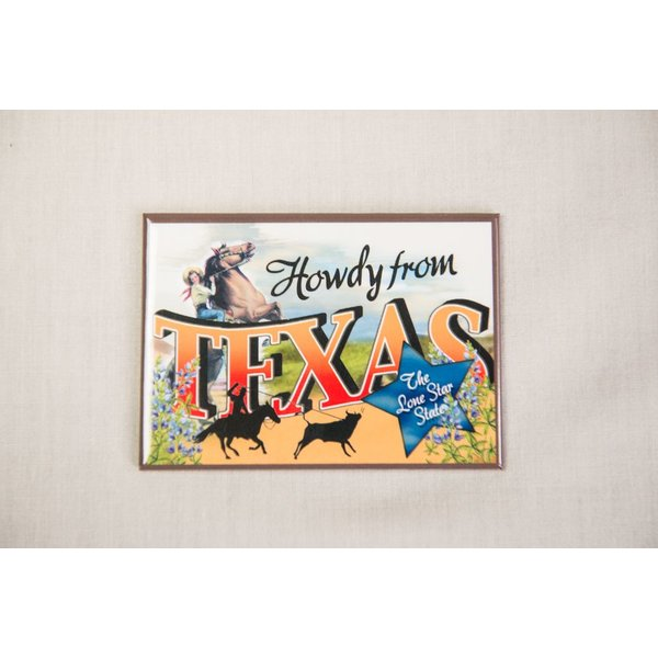 Texas Traditions HOWDY VINTAGE MAGNET