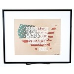 "All the way with LBJ LBJ ""OUR MISSION…"" QUOTE Matted 11.5 x 14"
