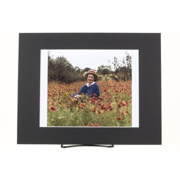 11x14 MATTED PHOTO LBJ/LADY BIRD IN WILDFLOWERS