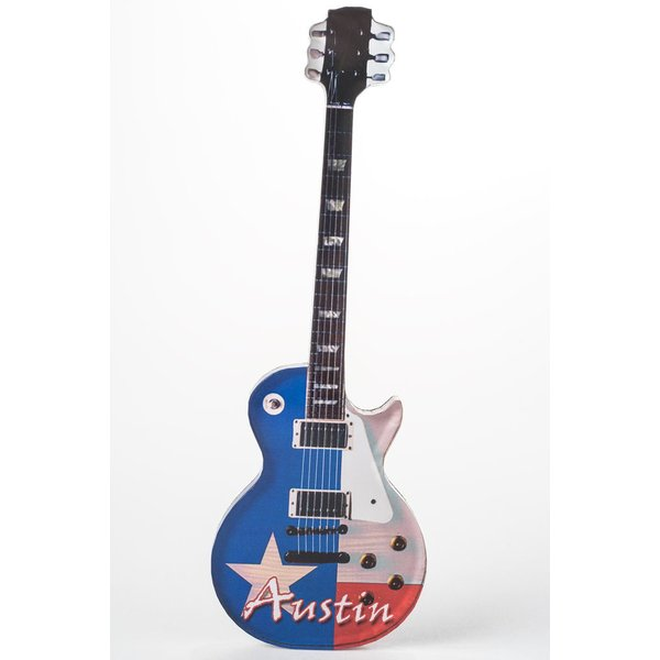 RED WHITE BLUE GUITAR MAGNET