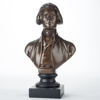 "Patriotic THOMAS JEFFERSON 12"" BRONZE BUST"