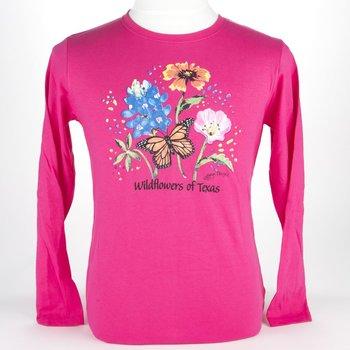 sale-WILDFLOWERS OF Texas long sleeve tshirt