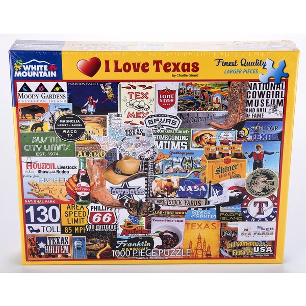 I LOVE TEXAS 1000 PC PUZZLE