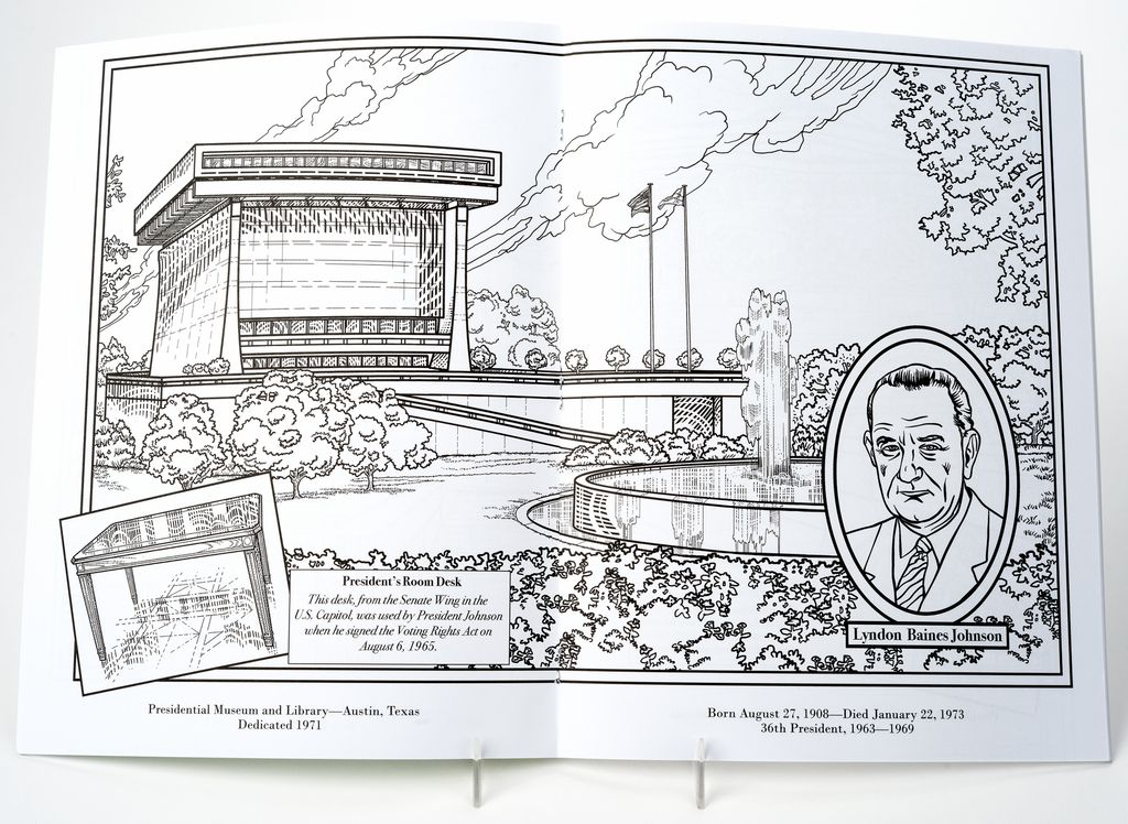 PRESIDENTIAL LIBRARIES COLORING BOOK The Store At LBJ - Us presidential libraries map