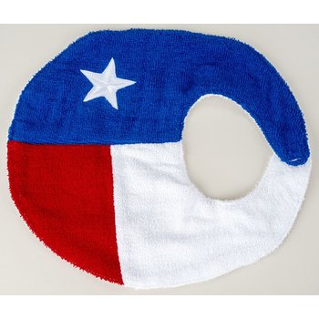 TEXAS FLAG TERRY CLOTH BIB