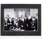 11x14 MATTED PHOTO: SIGNING OF CIVIL RIGHTS ACT 1964