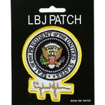 PRESIDENTIAL SEAL PATCH WITH LBJ SIGNATURE