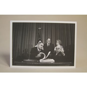 All the way with LBJ MEDICARE BILL SIGNING POSTCARD