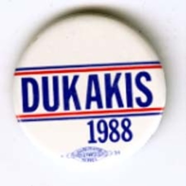 DUKAKIS 1988 RED AND BLUE STRIPES