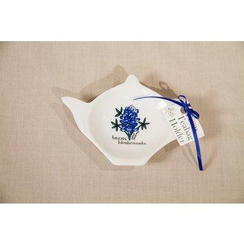 Texas Traditions TEXAS BLUEBONNET TEA BAG HOLDER