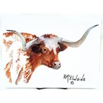 Texas Traditions LONGHORN PORTRAIT 12X16 KATHLEEN McELWAINE PRINT