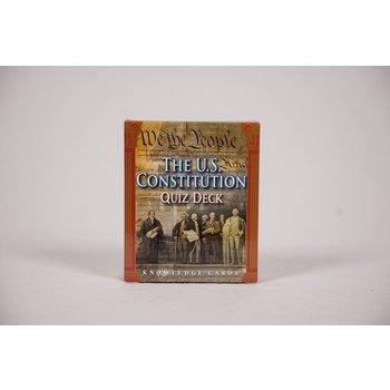 Patriotic US CONSTITUTION KNOWLEDGE CARDS