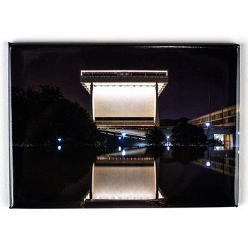 LBJ LIBRARY REFLECTED AT NIGHT MAGNET
