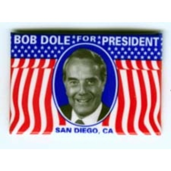 BOB DOLE FOR PRES RECTANGLE