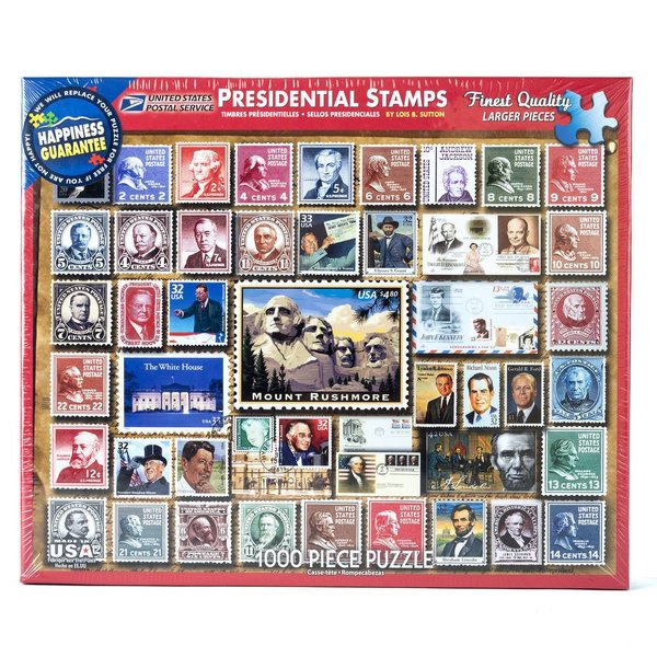 PRESIDENTIAL STAMPS 1000PC PUZZLE