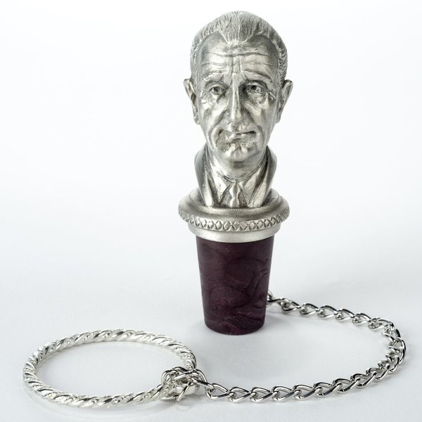 All the way with LBJ PEWTER LBJ BOTTLE STOPPER