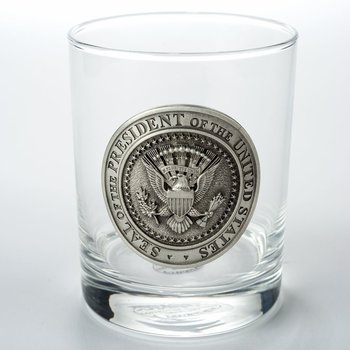 Patriotic DOUBLE OLD FASHIONED  with PEWTER PRESIDENTIAL SEAL