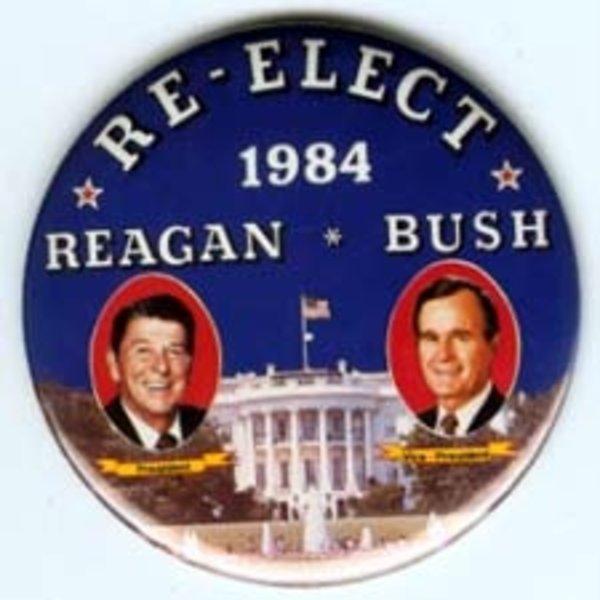 REAGAN BUSH RE-ELECT 84