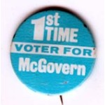 1ST TIME VOTER for MCGOVERN 1972