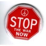 STOP THE WAR NOW- original anti vietnam button